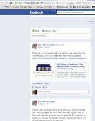 Jim Miller's Facebook post about the Lincoln Club on Oct. 9. The post has since been removed.