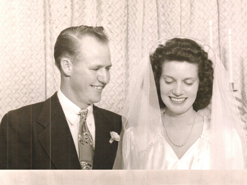 LC Salis and his wife of 66 years, Betty