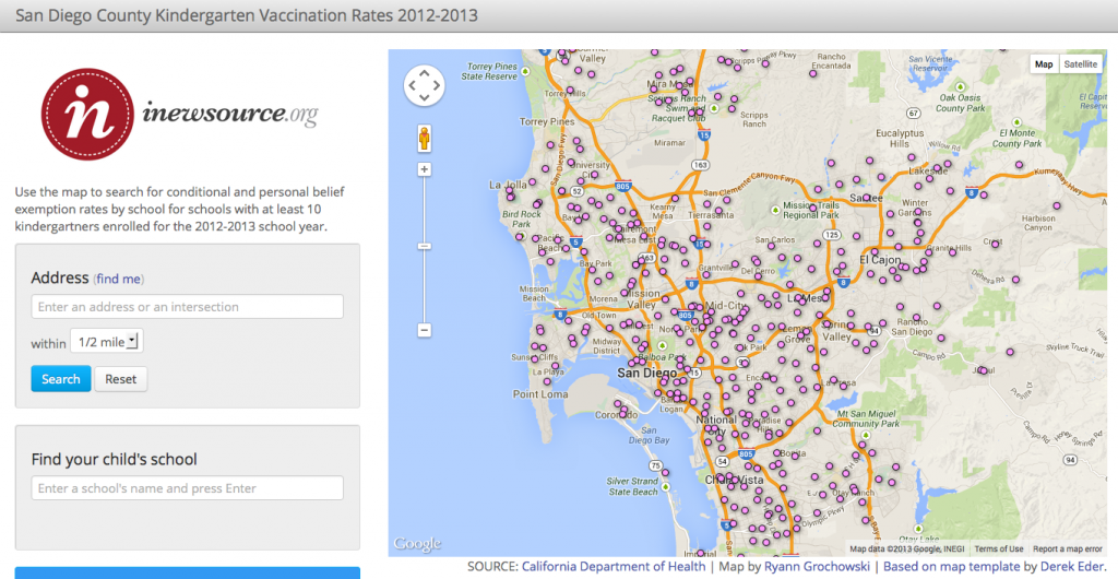 San Diego County Kindergarten Vaccination Rates 2012-2013