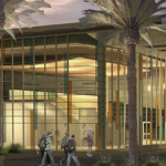 A rendering of the new K-8   school from the PUSD website.