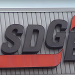 A sign on SDG&E's headquarters appears in this undated photo. Nicholas McVicker, KPBS